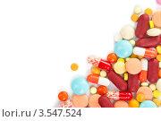 Разноцветные таблетки и капсулы с лекарствами. Стоковое фото, фотограф Степанов Григорий / Фотобанк Лори