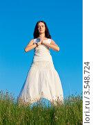 Купить «Девушка занимается йогой», фото № 3548724, снято 20 мая 2012 г. (c) Инга Дудкина / Фотобанк Лори