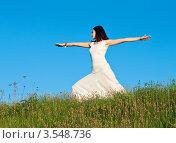 Купить «Девушка занимается йогой», фото № 3548736, снято 20 мая 2012 г. (c) Инга Дудкина / Фотобанк Лори