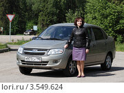 Купить «Женщина автомобилист», эксклюзивное фото № 3549624, снято 24 мая 2012 г. (c) Дмитрий Неумоин / Фотобанк Лори