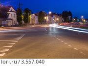 Ночной перекрёсток (2012 год). Редакционное фото, фотограф Юрий Горид / Фотобанк Лори