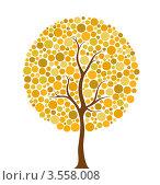 Купить «Пожелтевшее дерево на белом фоне. Иллюстрация», иллюстрация № 3558008 (c) Лагутин Сергей / Фотобанк Лори