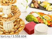 Купить «Еда на шведском столе», фото № 3558604, снято 15 апреля 2012 г. (c) CandyBox Images / Фотобанк Лори