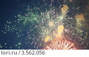 Купить «Праздничный фейерверк», видеоролик № 3562056, снято 8 декабря 2009 г. (c) Losevsky Pavel / Фотобанк Лори