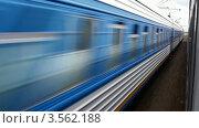 Купить «Пересечение двух поездов на железной дороге», видеоролик № 3562188, снято 7 апреля 2010 г. (c) Losevsky Pavel / Фотобанк Лори
