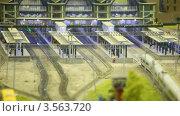 Купить «Пассажирский поезд прибывает на станцию», видеоролик № 3563720, снято 5 февраля 2010 г. (c) Losevsky Pavel / Фотобанк Лори