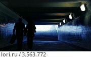 Купить «Мужчина и женщина идут по подземному переходу», видеоролик № 3563772, снято 10 февраля 2010 г. (c) Losevsky Pavel / Фотобанк Лори