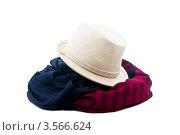 Шляпа и шарф. Стоковое фото, фотограф Инна Шевелёва / Фотобанк Лори