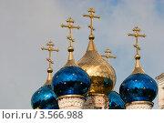 Купить «Купола храма», фото № 3566988, снято 3 июня 2012 г. (c) Зобков Георгий / Фотобанк Лори