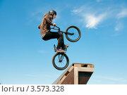 Купить «Слоуп-стайл. Тренировка прыжков», эксклюзивное фото № 3573328, снято 27 мая 2012 г. (c) Ольга Визави / Фотобанк Лори