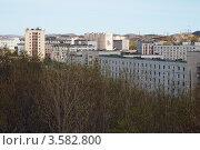 Купить «Вид на город Гаджиево Мурманской области», эксклюзивное фото № 3582800, снято 10 мая 2010 г. (c) Вячеслав Палес / Фотобанк Лори