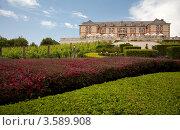 Купить «Винный двор в Napa Valley: здание и виноградники», фото № 3589908, снято 19 октября 2018 г. (c) SummeRain / Фотобанк Лори