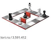 Шахматная оптическая иллюзия на белом фоне. Стоковая иллюстрация, иллюстратор Михаил Моросин / Фотобанк Лори