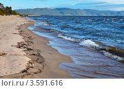 Купить «Байкал неспокойный. Ветер в Баргузинском заливе», фото № 3591616, снято 9 июня 2012 г. (c) Виктория Катьянова / Фотобанк Лори