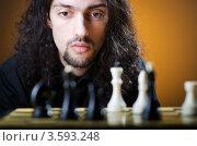 Купить «Мужчина играет в шахматы», фото № 3593248, снято 6 февраля 2012 г. (c) Elnur / Фотобанк Лори