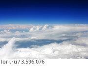 Купить «Вид из самолёта на белые облака и синее небо», фото № 3596076, снято 31 мая 2012 г. (c) Vitas / Фотобанк Лори
