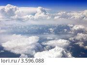 Купить «Вид на облака из окна самолета», фото № 3596088, снято 31 мая 2012 г. (c) Vitas / Фотобанк Лори