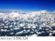Купить «Синее небо и белые облака, вид из самолёта», фото № 3596120, снято 31 мая 2012 г. (c) Vitas / Фотобанк Лори