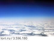Купить «Вид из самолета на облака», фото № 3596180, снято 31 мая 2012 г. (c) Vitas / Фотобанк Лори