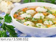 Суп с клёцками. Стоковое фото, фотограф Александр Курлович / Фотобанк Лори