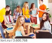 Купить «Студенты  в  аудитории», фото № 3600768, снято 28 апреля 2012 г. (c) Gennadiy Poznyakov / Фотобанк Лори