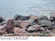 Купить «Камни на пляже Ильичевска», фото № 3615224, снято 12 июня 2012 г. (c) Наталия Попова / Фотобанк Лори
