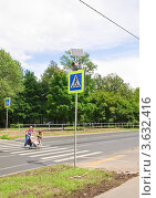 Купить «Система импульсной индикации на базе светофора на солнечной батарее Solar Traffic Light на пешеходном переходе», эксклюзивное фото № 3632416, снято 29 июня 2012 г. (c) Алёшина Оксана / Фотобанк Лори