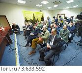 Купить «Конференция в Пресс-Центре Ассоциации Иностранных Журналистов», фото № 3633592, снято 19 ноября 2010 г. (c) Losevsky Pavel / Фотобанк Лори