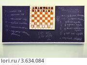 Купить «Шахматы на доске в шахматном клубе», фото № 3634084, снято 5 марта 2011 г. (c) Losevsky Pavel / Фотобанк Лори