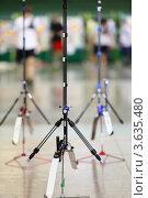 Купить «Три спортивных лука на подставках», фото № 3635480, снято 2 апреля 2011 г. (c) Losevsky Pavel / Фотобанк Лори