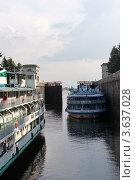 Купить «Канал имени Москвы. Шлюз №1. N1», фото № 3637028, снято 17 августа 2011 г. (c) Алексей Шипов / Фотобанк Лори