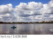 Купить «Рыбалка на Москве-реке», эксклюзивное фото № 3638868, снято 30 июня 2012 г. (c) Игорь Веснинов / Фотобанк Лори