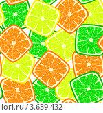 Купить «Яркий бесшовный фон, составленный из квадратных долек цитрусовых фруктов», иллюстрация № 3639432 (c) Татьяна Скрипниченко / Фотобанк Лори