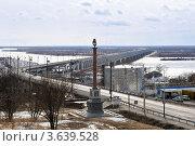 Хабаровский мост зимой (2012 год). Стоковое фото, фотограф Максим Судоргин / Фотобанк Лори