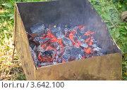 Купить «Мангал с раскаленными углями», эксклюзивное фото № 3642100, снято 17 июня 2012 г. (c) Алёшина Оксана / Фотобанк Лори
