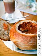 Купить «Суп-гуляш в съедобной посуде», фото № 3649388, снято 21 мая 2012 г. (c) Анна Лурье / Фотобанк Лори