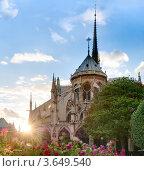 Купить «Собор Парижской Богоматери на закате», фото № 3649540, снято 5 сентября 2011 г. (c) Константин Ёлшин / Фотобанк Лори