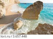 Купить «Красивый летний белый Порто Кацики пляж на Ионическом море (Лефкада, Греция)», фото № 3657448, снято 26 июня 2012 г. (c) Юрий Брыкайло / Фотобанк Лори