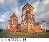 Купить «Мирский замок, Белоруссия», фото № 3661424, снято 3 января 2012 г. (c) Дмитрий Волков / Фотобанк Лори
