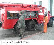 Машина пожарная. Редакционное фото, фотограф Дмитрий Никоненко / Фотобанк Лори