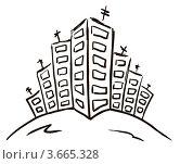 Новостройка, абстрактный набросок. Стоковая иллюстрация, иллюстратор Юлия Копачева / Фотобанк Лори