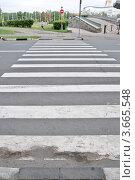 Купить «Пешеходный переход через дорогу», фото № 3665548, снято 13 июля 2012 г. (c) Илюхина Наталья / Фотобанк Лори