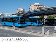 Купить «На автобусной станции Лефкосии (Никосии). Кипр», фото № 3665556, снято 25 мая 2012 г. (c) Виктор Карасев / Фотобанк Лори