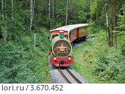 Купить «Поезд детской железной дороги в Екатеринбурге», фото № 3670452, снято 7 июля 2012 г. (c) Елена Ермоленко / Фотобанк Лори