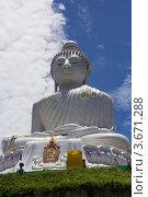 Купить «Большой Будда в Тайланде», фото № 3671288, снято 12 апреля 2012 г. (c) Роман Иванов / Фотобанк Лори