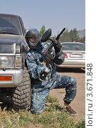 Пейнтбол в Омске (2012 год). Редакционное фото, фотограф Валерий Семикин / Фотобанк Лори