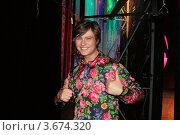 """Купить «Прохор Шаляпин с улыбкой показывает большой палец: """"Классно!""""», фото № 3674320, снято 3 июня 2012 г. (c) Алена Потапова / Фотобанк Лори"""
