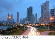 Купить «Вид на вечерний Панама-Сити», фото № 3676464, снято 13 мая 2012 г. (c) David Castillo Dominici / Фотобанк Лори