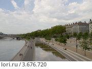 Купить «Набережная реки Рона, Лион, Франция», фото № 3676720, снято 10 июля 2012 г. (c) Иван Марчук / Фотобанк Лори