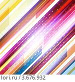 Абстрактный фон с разноцветными полосами. Стоковая иллюстрация, иллюстратор Михаил Моросин / Фотобанк Лори